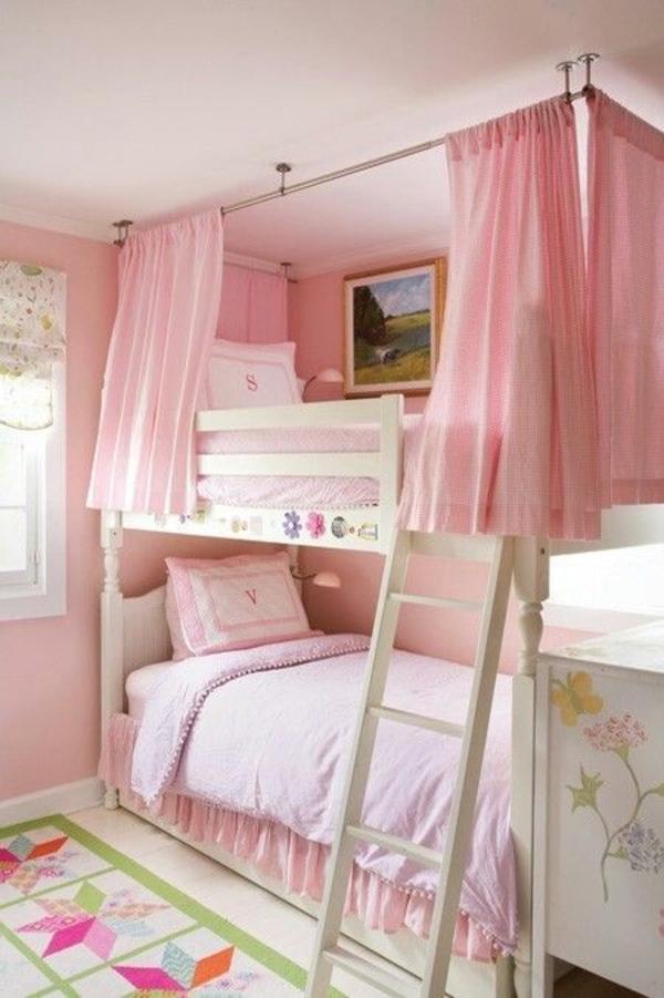 rosa schlafzimmer etagenbett kinderzimmer