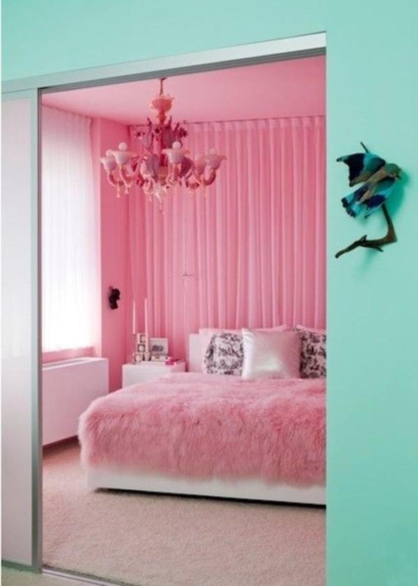 rosa schlafzimmer harmonischer kontrast