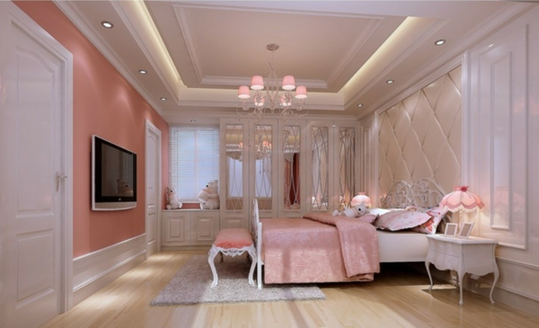 Charmant Rosa Schlafzimmer Luxus Glamour