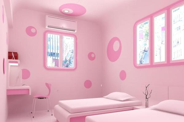 rosa schlafzimmer minimalistisch