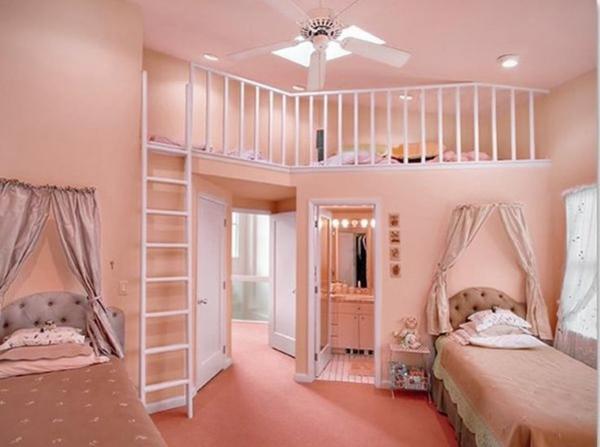 rosa schlafzimmer naturfarben