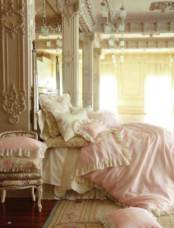rosa schlafzimmer rokoko stil