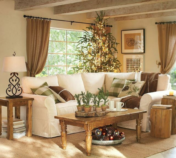 rustikale einrichtungsideen wohnzimmer landhausstil holz möbel