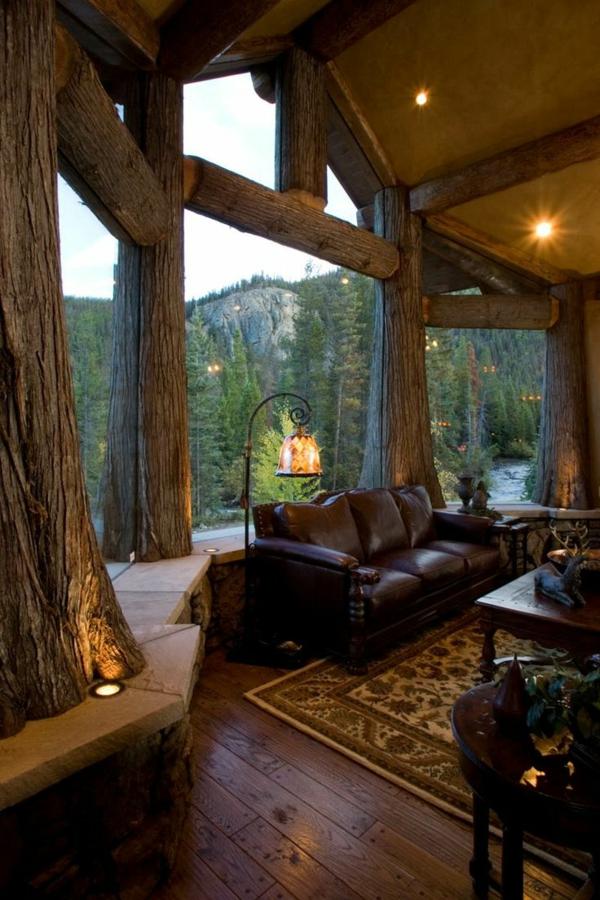 rustikale einrichtungsideen wohnzimmer landhausstil wohnzimmermöbel