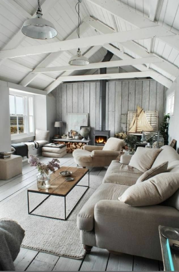rustikale möbel einrichtungsideen wohnzimmer rustikal holzboden