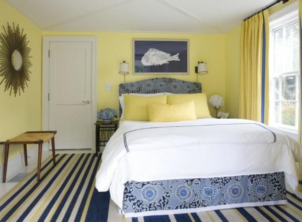 schlafzimmer farben wandfarbe gelb farbpalette wandfarben ideen