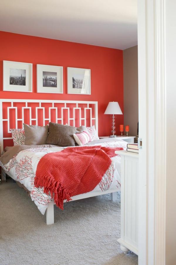 Farbgestaltung Schlafzimmer - Passende Farbideen Für Ihren Schlafraum Schlafzimmer Farben Rot