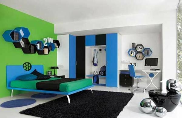 Jugendliches schlafzimmer modern gestalten for Boys football themed bedroom ideas