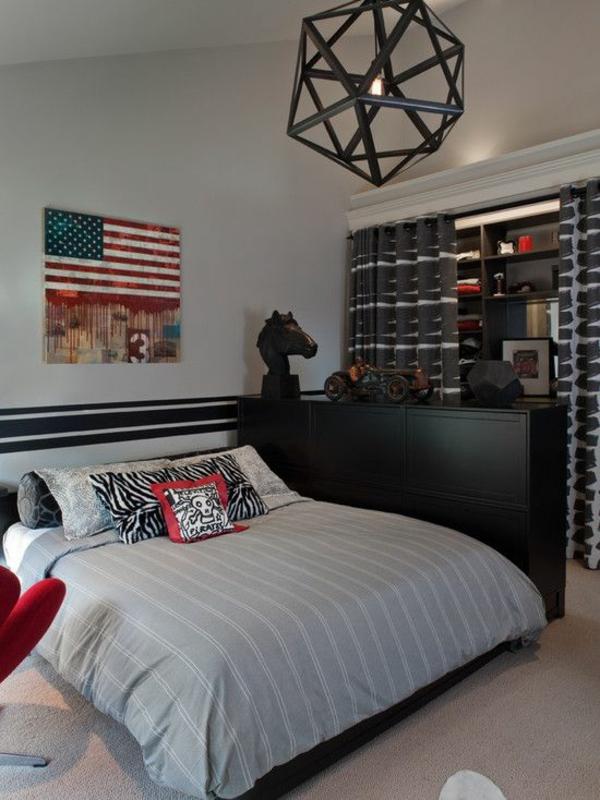 Schlafzimmer amerikanisch einrichten  Jugendliches Schlafzimmer modern gestalten