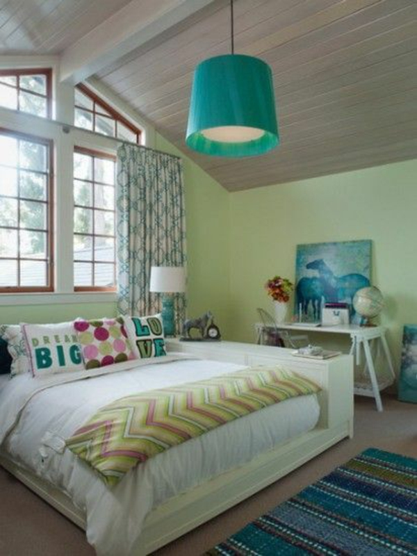 schlafzimmer modern einrichten jugendzimmer lampenschirm