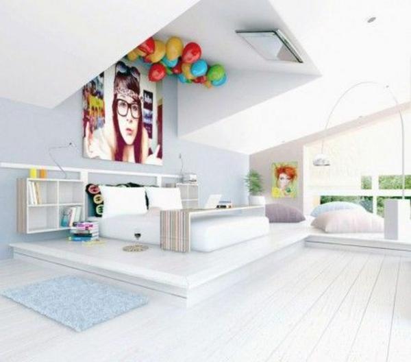 Schlafzimmer modern weiß  Jugendliches Schlafzimmer modern gestalten