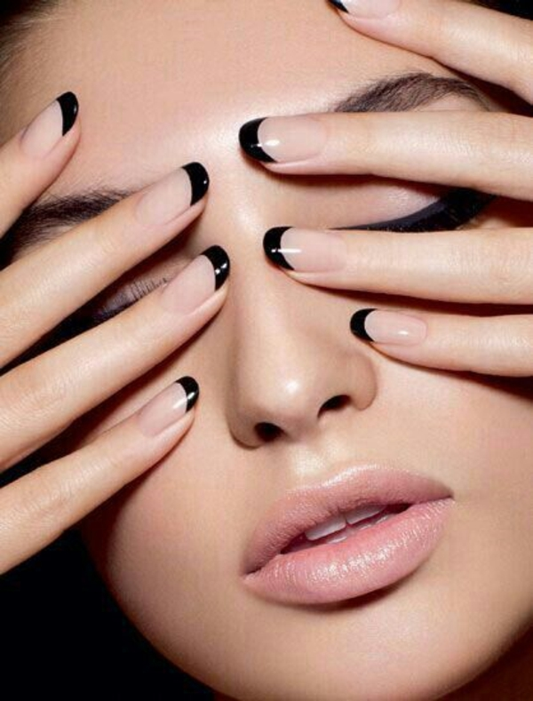 schlichte nägel french nägel bilder schwarz fingernägel bilder