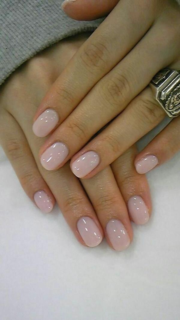 schlichte nägel fingernägel bilder glänzend rosa