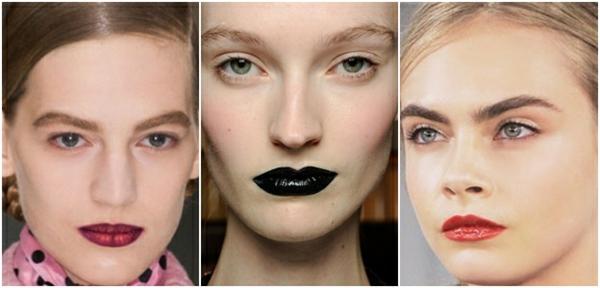 augen natürliches make up dunkel lippenstift