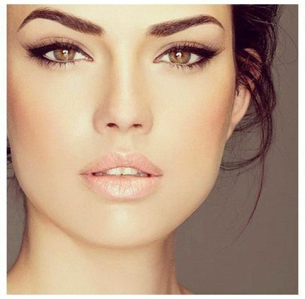 schminken augen natürliches make up elegant
