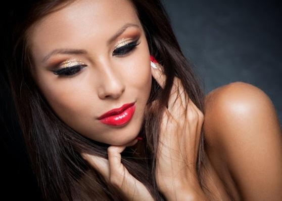 augen natürliches make up glanz