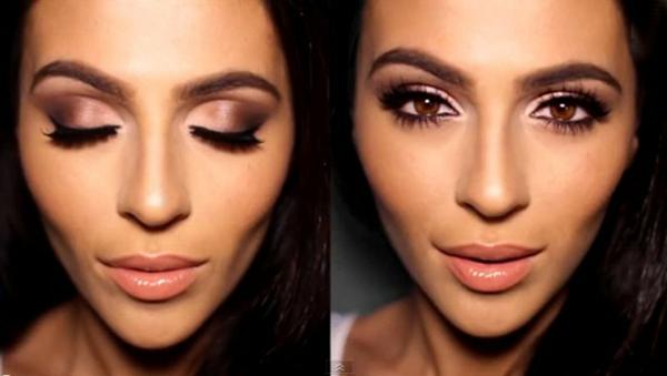 schminken augen natürliches make up glitzern