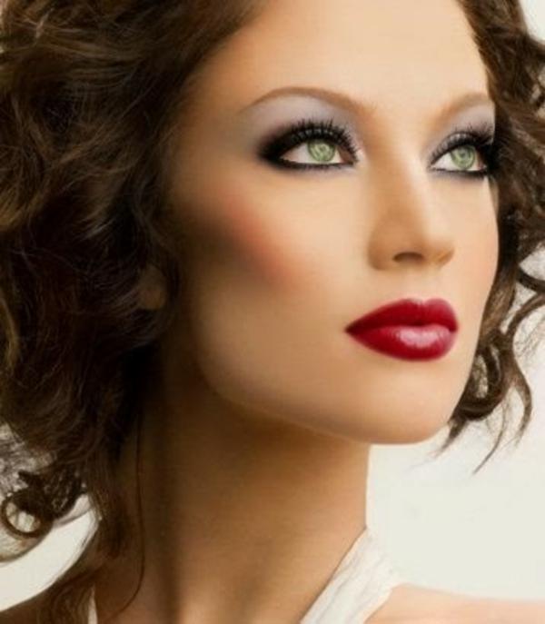 schminken augen natürliches make up linien