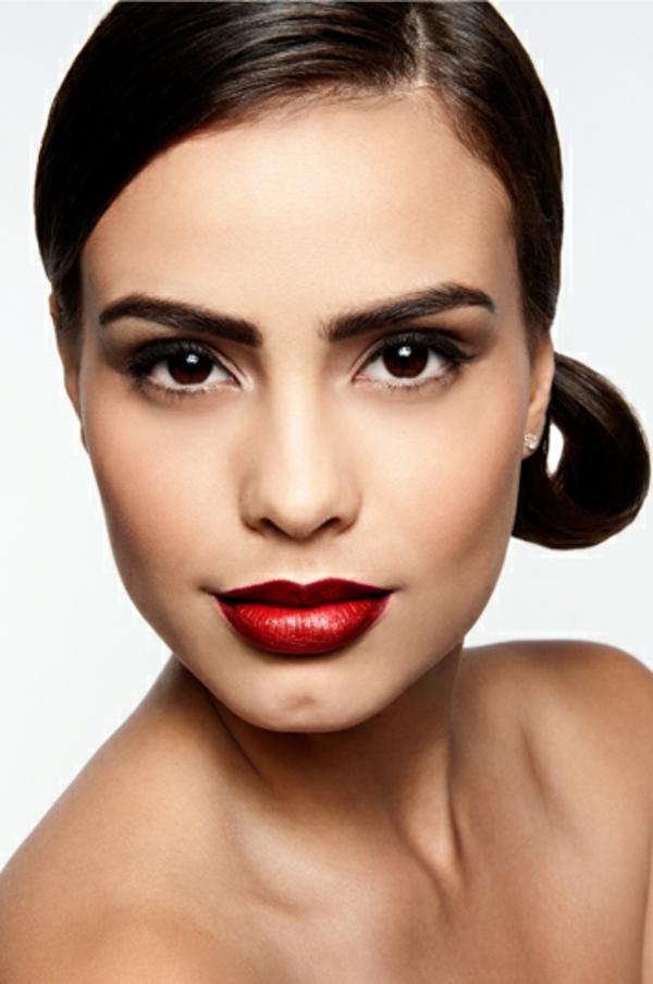 schminken augen natürliches make up minimalistisch