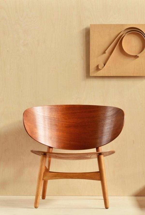 skandinavische möbel holz stühle Hans J.Wegner Shell chair 50er jahre