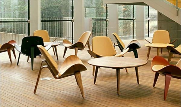 skandinavische möbel holz stühle esstisch rund skandinavisches design