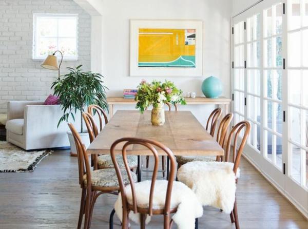 skandinavische möbel holzmöbel esszimmertisch mit stühlen