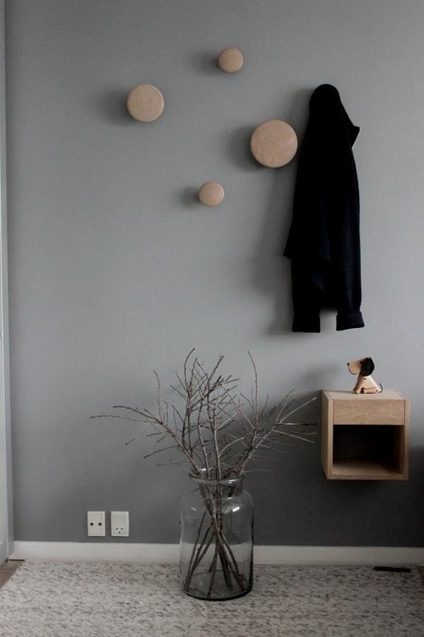 skandinavische möbel kleiderhaken flur einrichten dänisches design