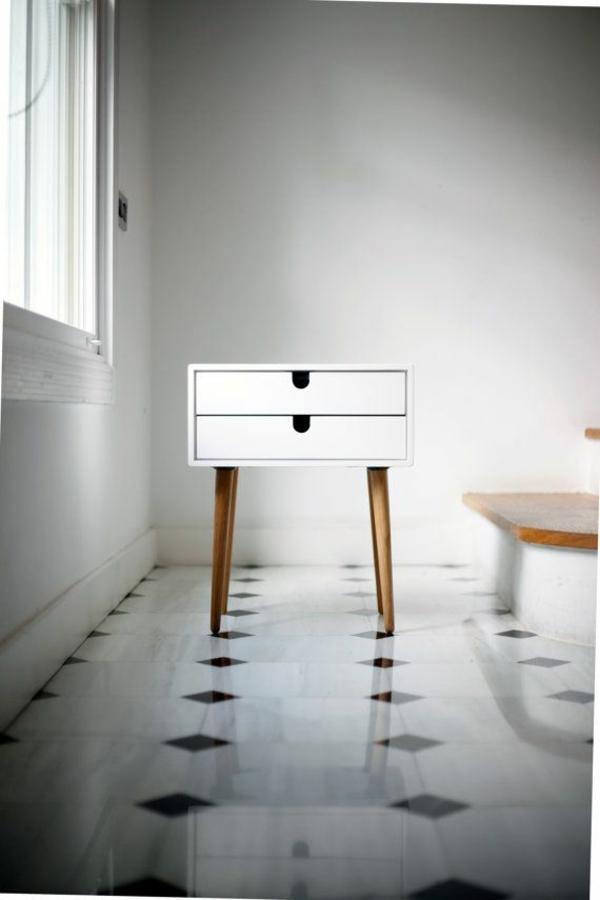 skandinavisches design möbel beistelltisch schubladen weiß