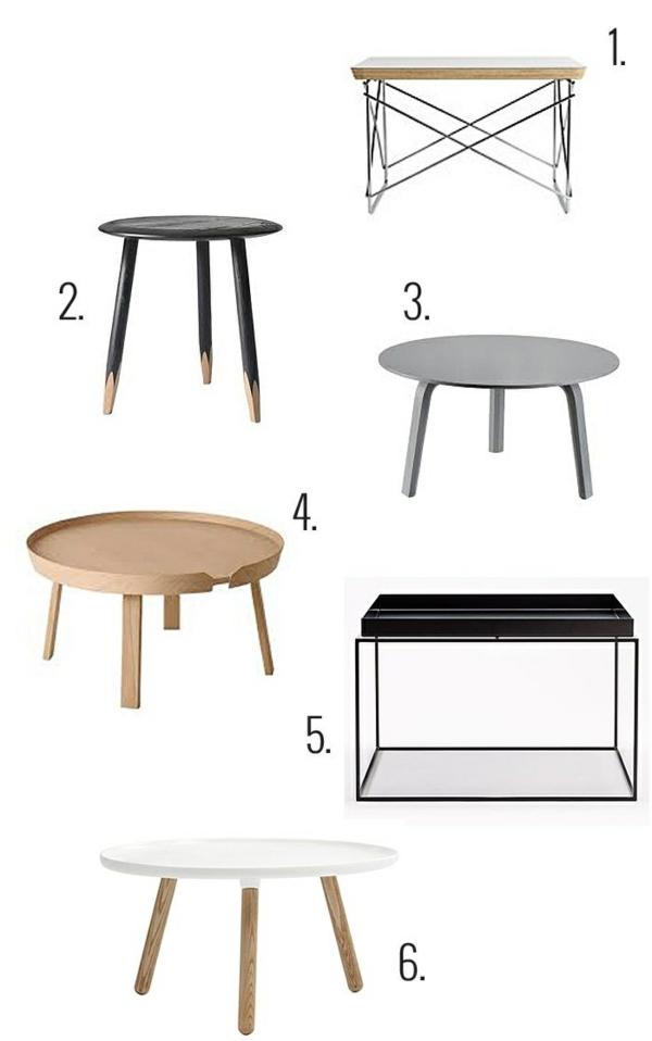 skandinavisches design möbel couchtisch rund couchtische
