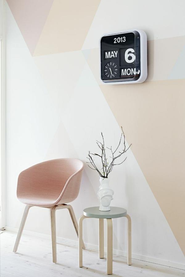skandinavisches design möbel couchtisch stuhl wandfarbe