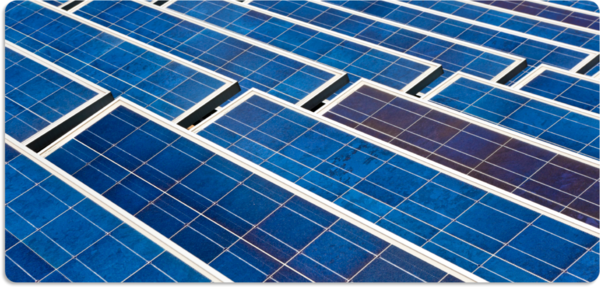solaranlage photovoltaik blau