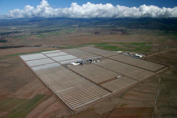 solaranlage und photovoltaik großflächig