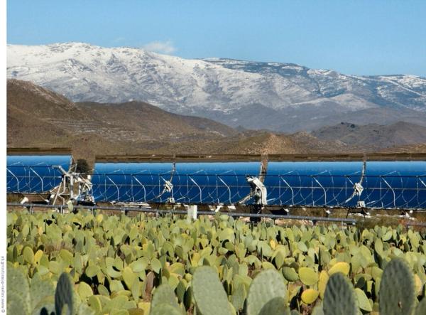 solaranlage und photovoltaik kakteen gebirge