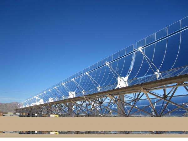 solaranlage und photovoltaik lang wüste
