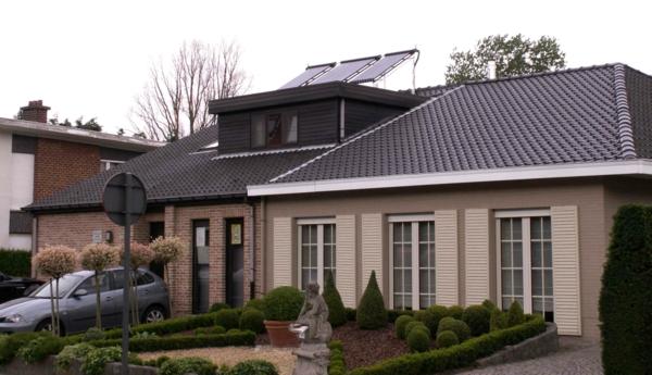 solaranlage und photovoltaik modernes haus