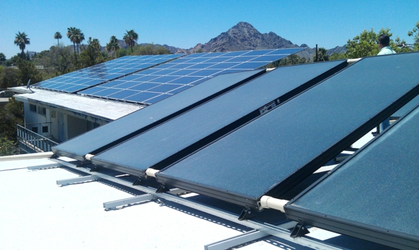 solaranlage und photovoltaik module dach