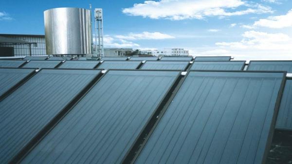 solaranlage und photovoltaik module himmel