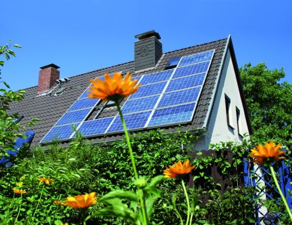 solaranlage und photovoltaik rustikal