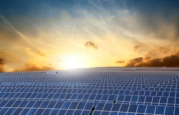 solaranlage photovoltaik sonnenaufgang