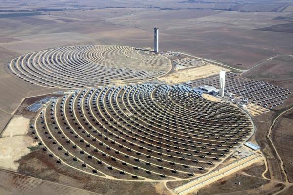 solaranlage und photovoltaik wüste