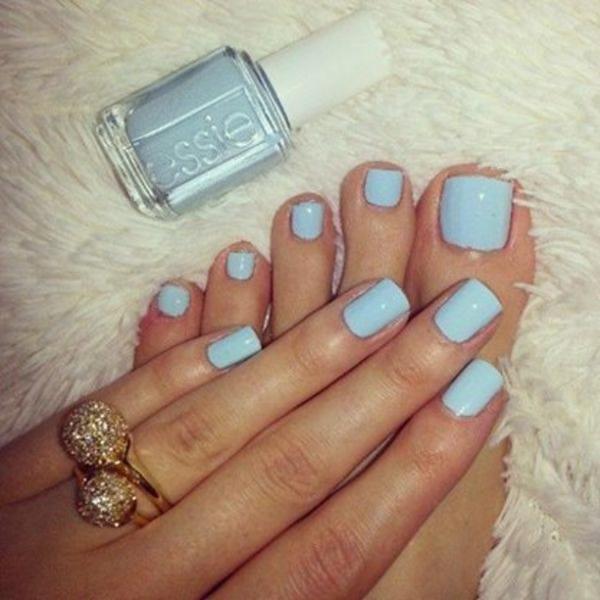 sommerurlaub nageldesign bilder nail art in meeresblau