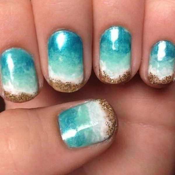 Nail art designs zum thema meer inspirierende for Beach design