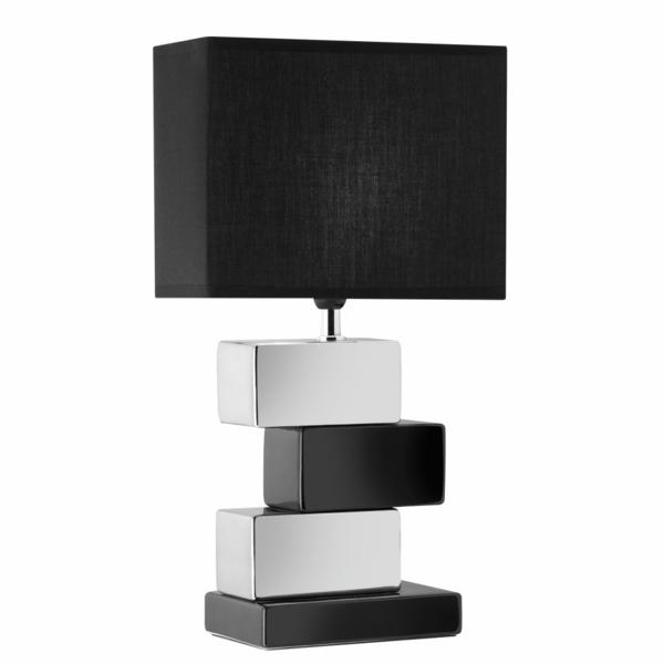 stehlampen design holz lampenschirm schwarz weiß