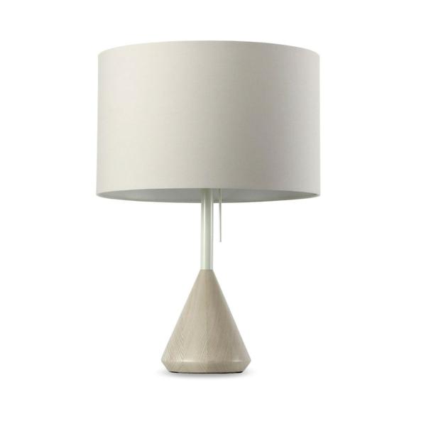 stehlampen design lampenschirm weiß nachttischlampe