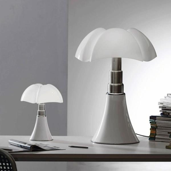 stehlampen design lampenschirm weiß schreibtischlampe