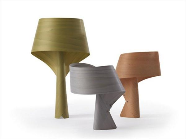 stehlampen design nachttischlampe holzlampe farben