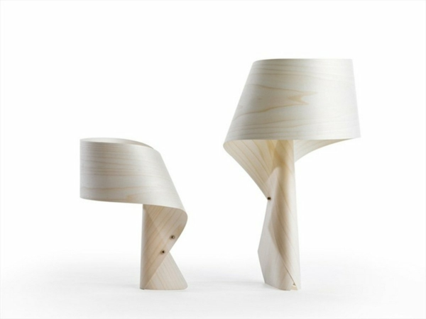 stehlampen design nachttischlampe holzlampe