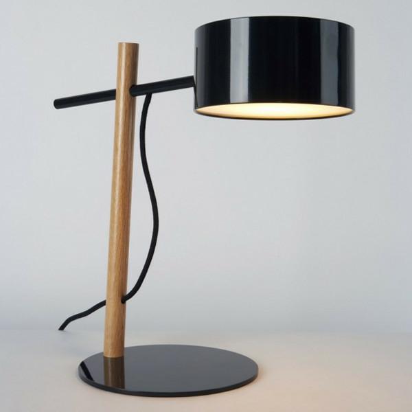 stehlampen modern holz schwarz lampenschirm stehleuchten