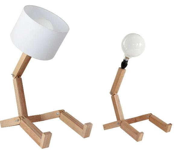 stehlampen modern holz weiß lampenschirm