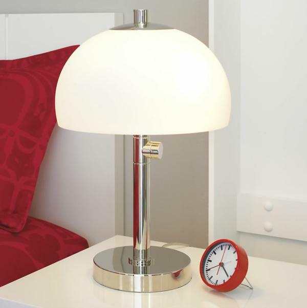 stehleuchten stehlampen modern weiß lampenschirm nachttisch uhr